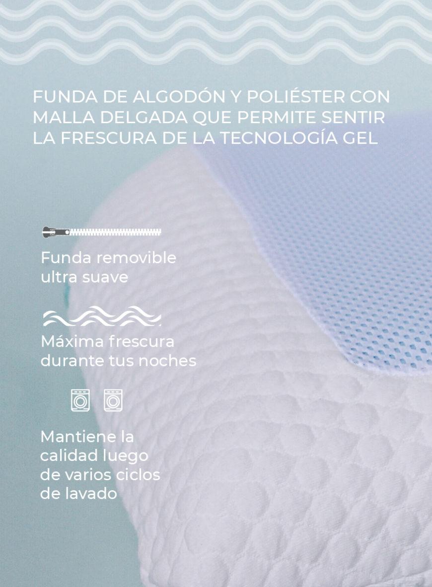 Almohada con gel memory lux tradicional 31