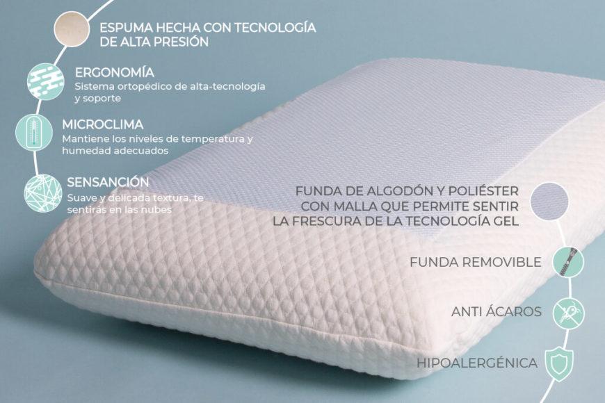 Almohada memory con gel tradicional lux 40